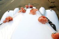 światła samochodu ślub Fotografia Royalty Free