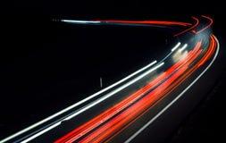 Światła samochody z nocą zdjęcie royalty free