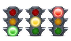 światła ustawiający ruch drogowy Zdjęcie Royalty Free
