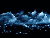 Światła w fractal pianie Zdjęcie Royalty Free
