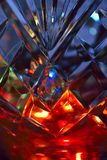 Światła w krystalicznej wazie Zdjęcia Stock