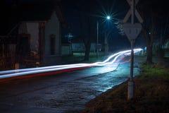 Światła w nocy Zdjęcia Stock