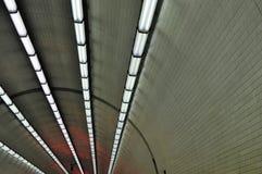 Światła w tunelu Zdjęcia Royalty Free