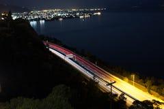 światło śladów ruch drogowy zdjęcie stock