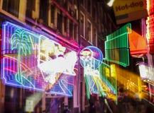 Światło Amsterdam miasto ilustracji