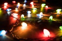 Światło barwioni światła girlanda Zdjęcie Stock