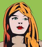 światło dziewczyny włosy światło Zdjęcie Stock