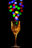 Światło gulgocze przybycie z wina szkła Zdjęcie Stock