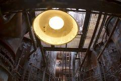 Światło inside rdzewieje industial kompleks Obrazy Royalty Free