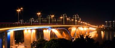 Światło jaskrawy most Zdjęcie Stock