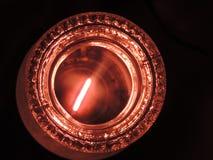 Światło krystaliczny świecznik Obrazy Royalty Free