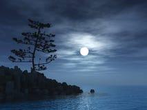 światło księżyca royalty ilustracja