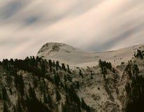światło księżyca góry fotografia stock