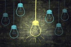 Światło Na Chalkboard Obrazy Stock