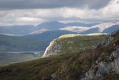 Światło na Knockan Crag fotografia royalty free