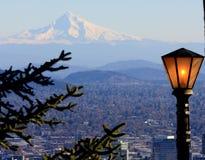 światło nad Portland Zdjęcia Royalty Free