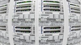 Światło, nowożytni pracujący dane serwery z błysnąć LEDs w dane centrum zdjęcie wideo