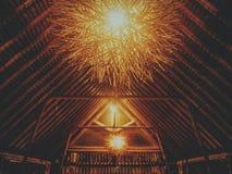 Światło od restauraci w Bali fotografia stock