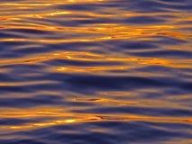 Światło odbija na oceanie liczba 3 zmierzch Zdjęcia Royalty Free