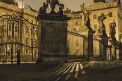 Światło paski w Praga kasztelu fotografia stock