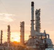 Światło petrochemicznego przemysłu elektrownia obraz stock