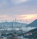 Światło petrochemicznego przemysłu elektrownia zdjęcia royalty free