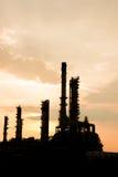 Światło petrochemicznego przemysłu elektrownia Zdjęcie Royalty Free