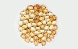 Światło - pomarańczowi Gemstone biżuterii rubinu koraliki obraz royalty free