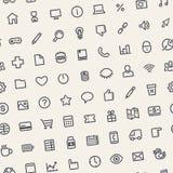 Światło Przechylający Bezszwowy wzór z Ogólnoludzkimi sieci ikonami Obrazy Royalty Free