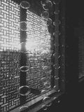 Światło przez szkła i wzorów Obraz Stock