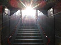 Światło przy końcówką wspinaczka obraz stock