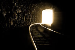 Światło przy Końcówka Tunel Obrazy Royalty Free