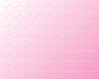 Światło - różowi walentynek serca w Bas uldze Przeciw światłu - różowy tło Zdjęcia Royalty Free