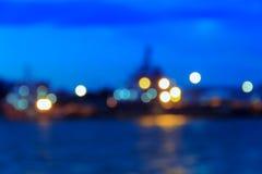Światło - różowy tła bokeh okrąg Fotografia Royalty Free