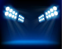 światło reflektorów błękitny ilustracyjny wektor Obraz Royalty Free