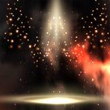 Światło reflektorów iluminuje royalty ilustracja