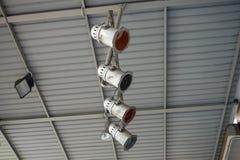 Światło reflektorów instalujący na dachu Zdjęcie Royalty Free