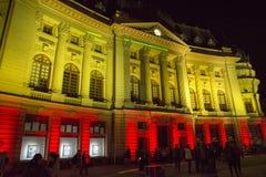 Światło reflektorów Międzynarodowy festiwal Bucharest 2015 Zdjęcie Royalty Free