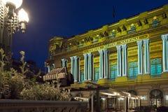 Światło reflektorów Międzynarodowy festiwal Bucharest 2015 Zdjęcia Stock