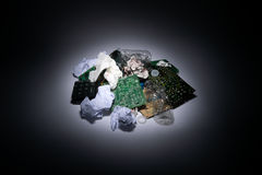 Światło reflektorów na Komputerowym śmieci Zdjęcie Stock