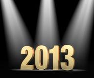Światło reflektorów na nowym roku 2013 Zdjęcie Stock