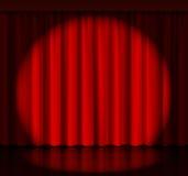 Światło reflektorów na sceny zasłonie ilustracji