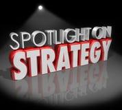 Światło reflektorów na strategii 3d słowach Skupia się Planistycznego wzrok ilustracja wektor
