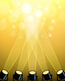 Światło reflektorów reflektoru tło Obraz Royalty Free