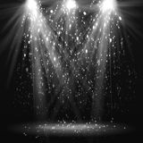 Światło reflektorów rocznika tło Zdjęcie Royalty Free
