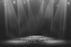 Światło reflektorów rocznika tło Fotografia Royalty Free