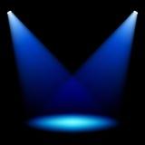 światło reflektorów scena Obraz Stock