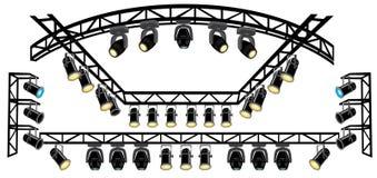 światło reflektorów sceny truss Obraz Royalty Free