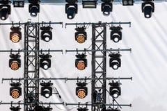 Światło reflektorów system dla iluminaci plenerowa scena podczas perfor Fotografia Royalty Free