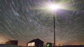 Światło reflektorów w nocy zbiory wideo